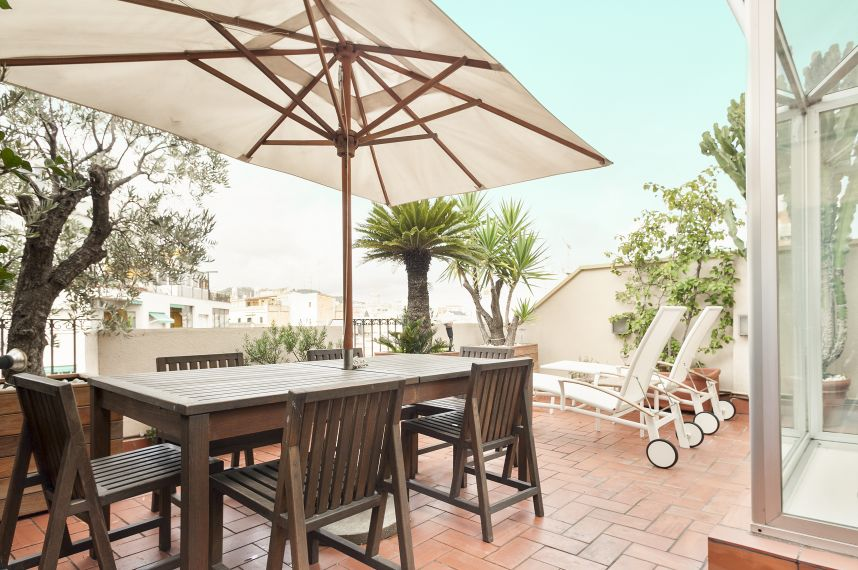 Eixample Luxury Penthouse Apartment To Rent In Barcelona Terrace ...