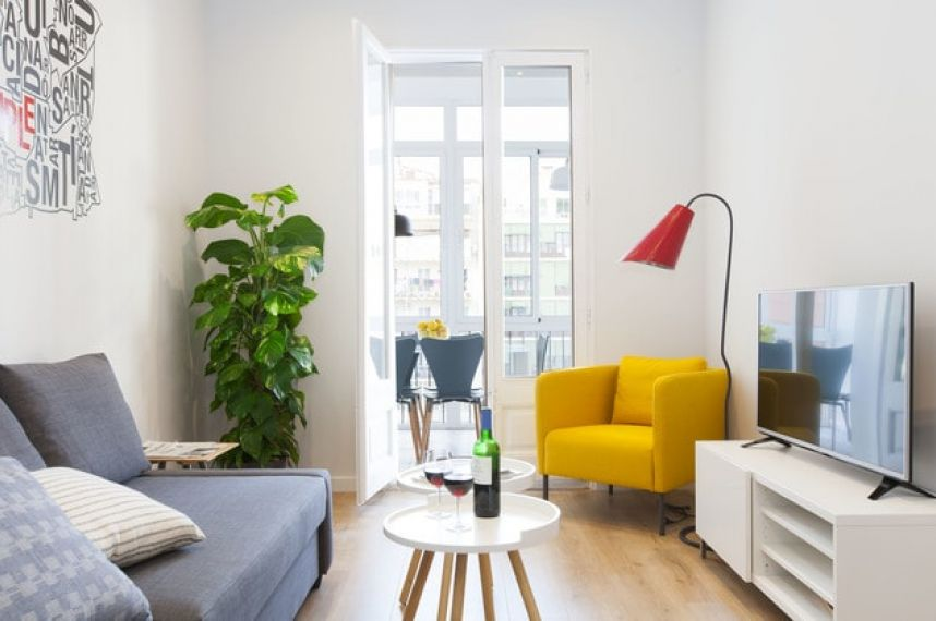 Living Room Vale Apartments Barcelona Stylish Plus Book Now