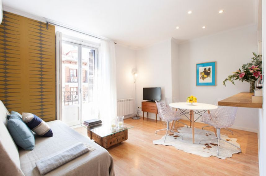 ... Trendy Balcony Calle Mayor Apartments In Madrid General View Of Living  Room ...
